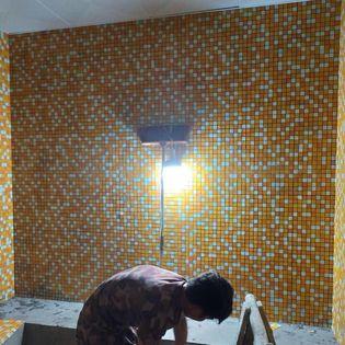 Gạch mosaic thủy tinh G725-02