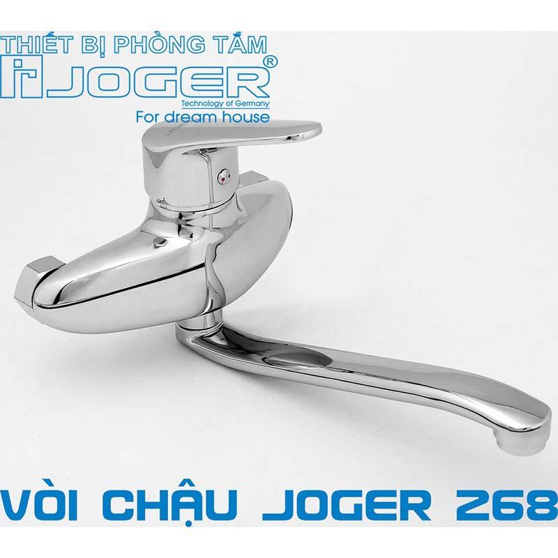 Vòi rửa bát cắm tường nóng lạnh JOGER 268